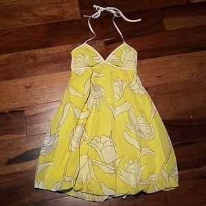 NWOT Charlotte Russe yellow floral halter dress